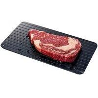 Szybkie rozmrażanie żywności mięso owoce szybkie taca odszraniania deska do krojenia szybkiego rozmrażania taca szybkie rozmrażanie płyta narzędzie kuchenne w Tace do rozmrażania od Dom i ogród na
