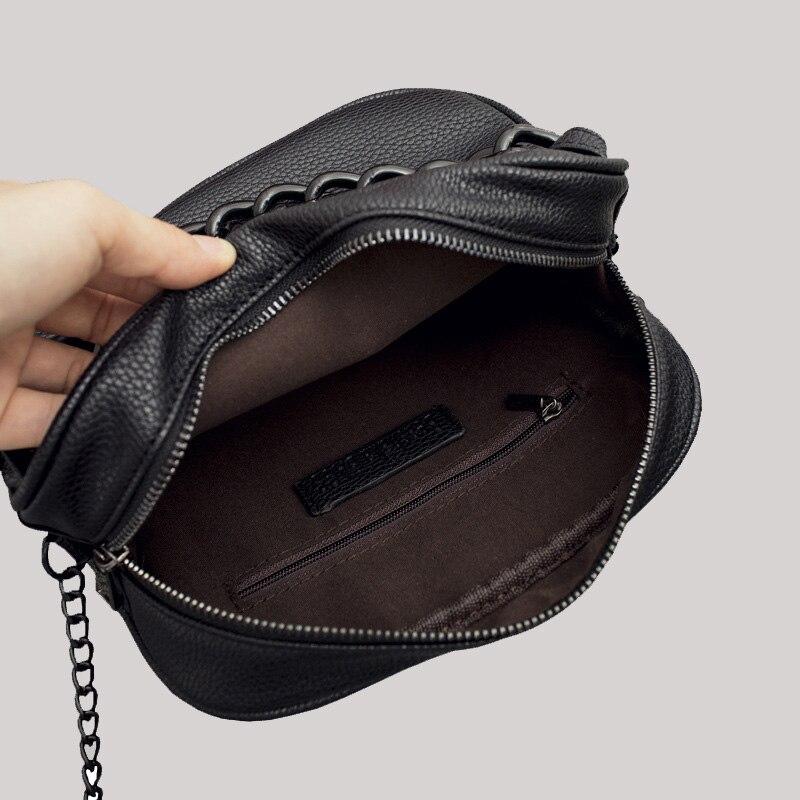 bolsa de couro cadeia de Women Messenger Bags : Cross Body Bags