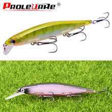 1Pcs 11cm 12.5cm Minnows fishing lure vibration Wobbler bait efficient tackle hard lures crankbait japan Pesca fishing hooks