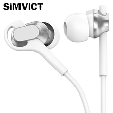 SIMVICT S21 Gaming Headset Stereo Earphones with Microphone Super Bass Earbuds 3.5mm In-Ear Headset for Mobile Phone for Mp3 Mp4 huawei wire sport headsets in ear earphone with earbuds super bass headset for mobile phone computer gaming business honor am175