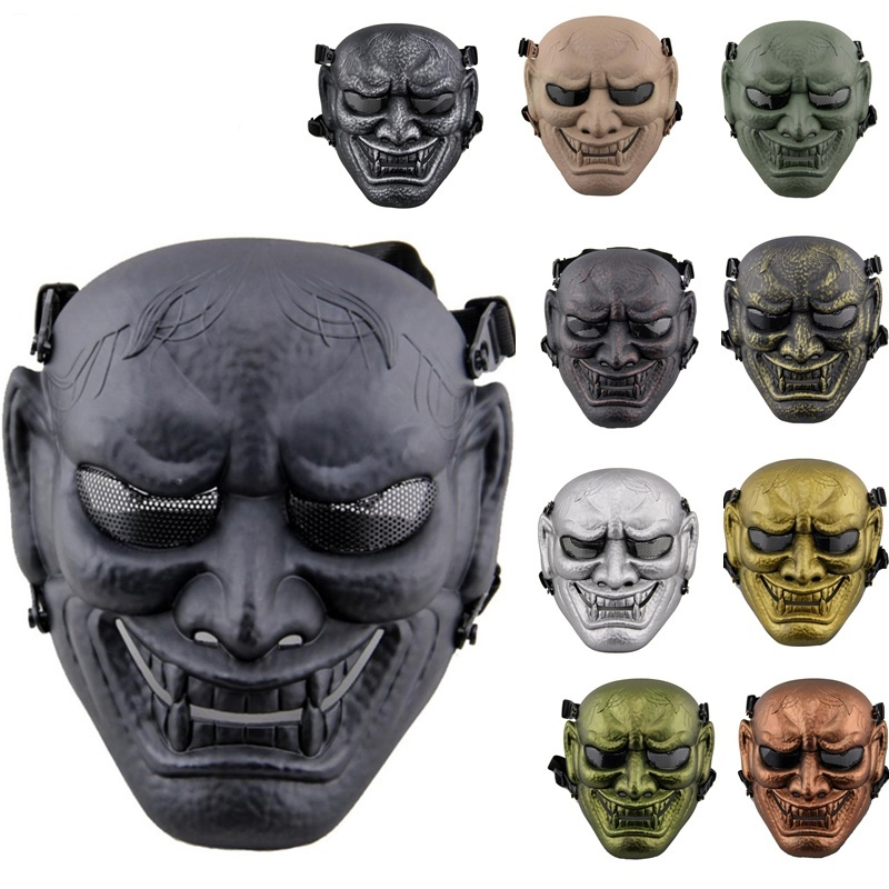 DC11 Military Army Japanese Ghost King Samurai Tactical Outdoor CS Wargame Paintball Airsoft Full Face Protective Mask