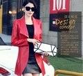 HNW008 otoño estilo de Las Mujeres de piel de Oveja de cuero grande da vuelta-abajo de cuero rompevientos chaquetas abrigos/2 color/marca famosa de China