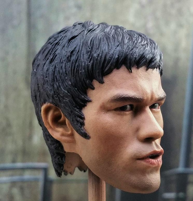 1//6 Jet Li Head Sculpt Enterbay Bruce Lee Expendables Barney Hot Toys Body Pants
