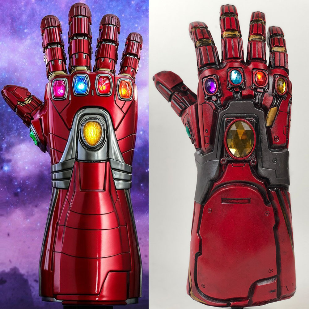 Avengers Endgame Iron Man Infinity Gauntlet Cosplay Arm Thanos Latex Gloves Arms Superhero Masks