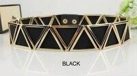 3 5cm Wide Elastic Black Belt Women Gold Belt Metal Belts For Women Cinto Feminino
