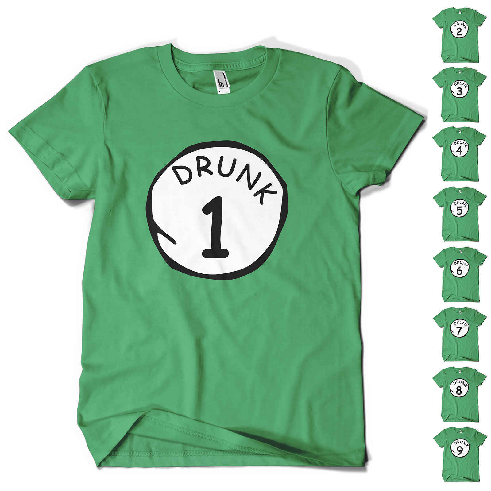 ec1d8a3af St Patricks Day T Shirt Paddys Day DRUNK 1 TO 9 Novelty Funny Beer Drinking  tee