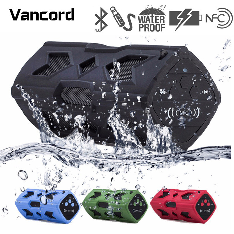 Vancord Portable Bluetooth Music Player Subwoofer Sound Box NFC Bluetooth Wireless Speaker Handsfree Waterproof Speaker PVS17