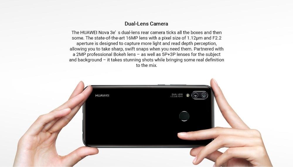 HTB1ZkjlhbsrBKNjSZFpq6AXhFXaK - Huawei P20 Lite Nova 3E Global Firmware 4G LTE Mobilephone Face ID 5.84