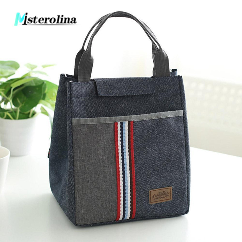 New summer Insulated Lunch Bags oxford fabric picnic Thermal Food bags for women kid men Cooler larger capacity Lunch Container