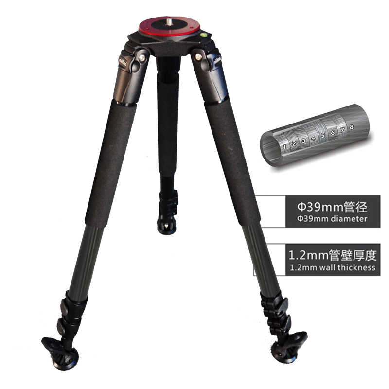25kg Load Miliboo IronTower MTT703B Carbon Fiber Professional Video Camera Tripod Stand 39mm Foot Tube Diameter