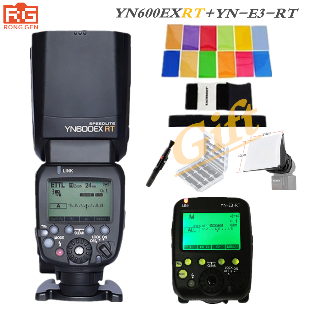 YONGNUO YN-600EX-RT 2.4G Wireless HSS 1/8000s Master Flash Speedlite + YN-E3-RT Flash Trigger for Canon EOS Camera yongnuo yn e3 rt flash speedlite transmitter suit for canon 600ex rt as st e3 rt