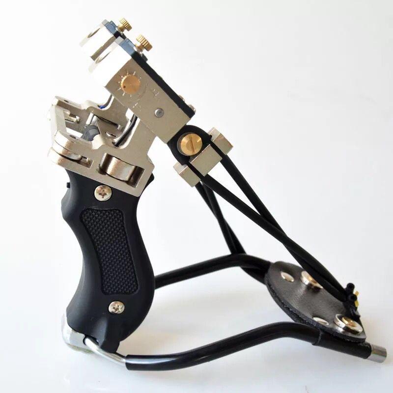 Lance Pierre Noir Fronde Aluminium Metal Laser Pro Plein Air Precision
