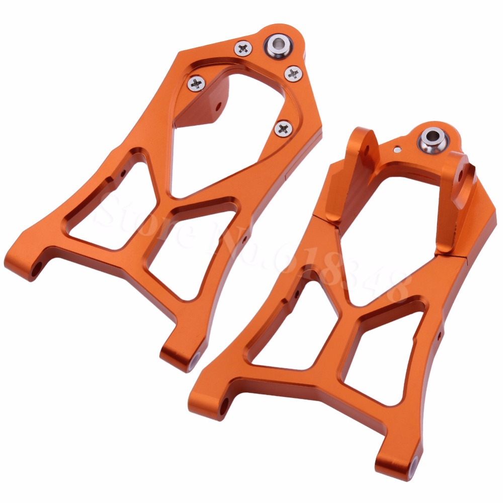 2PCS Aluminum Alloy Front Lower Suspension Arms For 1/5 HPI Baja 5B 5SC 5T 5R SS T1000 KM ROVAN 85400 Upgrade Parts CNC Anodized baja cnc front lower arm