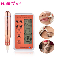 Digital Permanent Makeup Tattoo Machine Charmant Eyebrow Makeup Kits Eye Brow Lip Rotary Pen Motor Tattoo Guns Kit