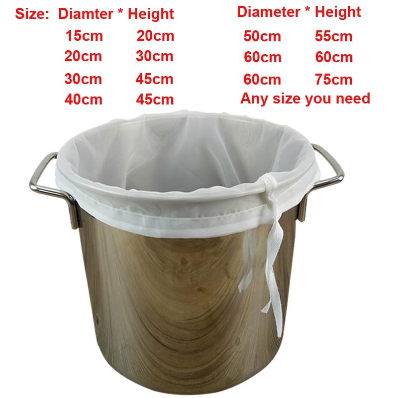 Bir Homebrew Filter Bag untuk Pembuatan Bir Malt Mendidih Wortel Mash Saringan Alat Gratis Pengiriman