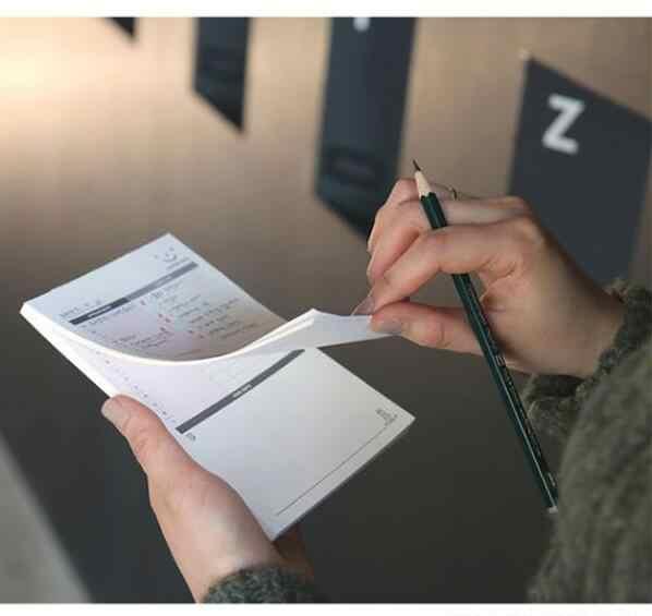 1ピース/60ページに行うリストメモパッド新しいsprialオフィスプランナー作業メモパッド歩いて渡れる簡単にを使用