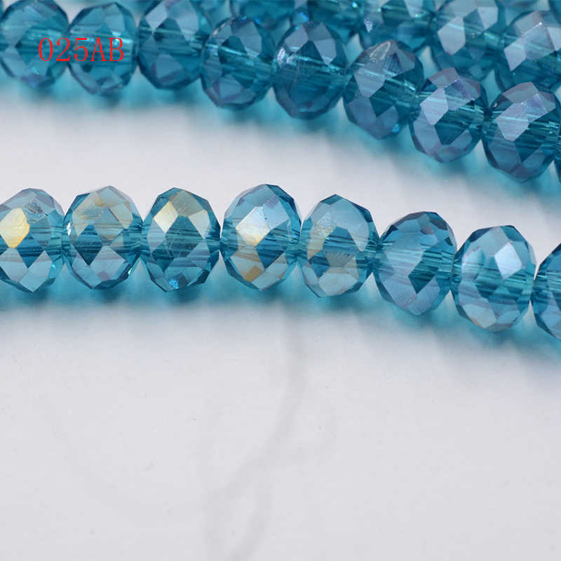 145 pièces 3x4mm cristal Rondelle verre espace perles fabrication de bijoux pour Bracelet collier Center percé en gros