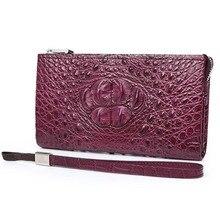 Gete 2106 new crocodile leather wallet leather long female wallet zipper bag crocodile handbag hand bag