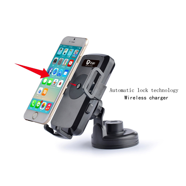 Black  Universal Qi Car Holder Wireless Charger for Samsung Galaxy S3 S4 S5 Note2 Note3 LG Google Nexus 4 5 Nexus