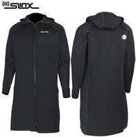SLINX 3 мм неопреновый гидрокостюм для плавания Для мужчин молнии с длинным рукавом теплые подводной охоты Гидрокостюмы мокрого типа куртка п