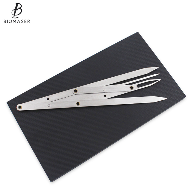 PermanetMakeup Ruler Measure Microblading ruler,eyebrow shaping ruler,ratio divider ruler Eyebrow Tattoo Design Calipers Stencil 4