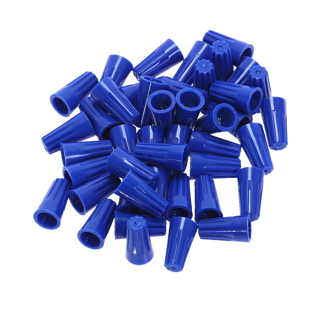 100pcs Electrical Wire Connector   Cap P2 Type 22-14AWG Blue