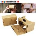 Caliente google cartón 2.0 caja auriculares vr ii kit diy 3d max gafas gafas de realidad virtual 2 para iphone android 4-6 móvil teléfono