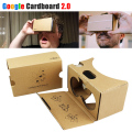 Hot Google Cardboard 2.0 VR BOX Headset ii kit DIY 3D MAX Glasses Virtual Reality Goggles 2 For iPhone Android 4-6 Mobile Phone