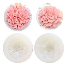 3D Carnation Flower Silicone Fondant Mold Handmade Soap Cake Candle Resin Molds