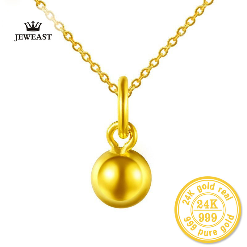 ZZZ 24k Pure Gold Small Round Beads Pendants For Women Simple Classic Charms Delicate Elegant Fine Jewelry Hot Sale 2017 NewZZZ 24k Pure Gold Small Round Beads Pendants For Women Simple Classic Charms Delicate Elegant Fine Jewelry Hot Sale 2017 New