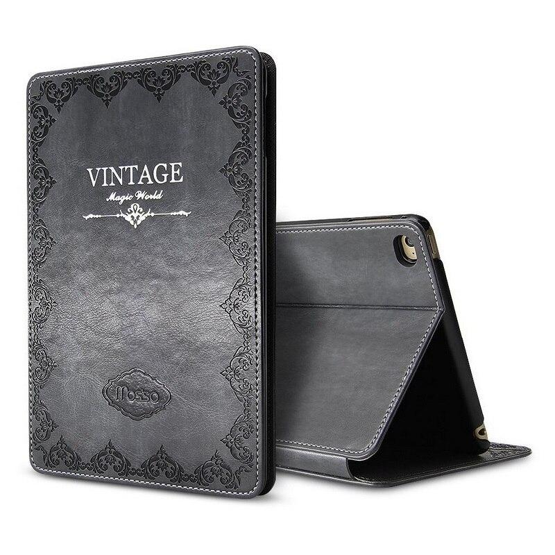Solque Retro Vintage Leather Flip Smart Cover for iPad Pro 10.5 2017 Tablet Case Luxury Book Magnet Slim Cases Auto Wake Sleep
