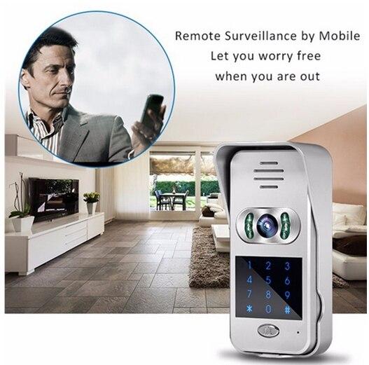 Cellphone control Remote monitoring video door phone IP doorbell  keypad WiFi door bell Video IntercomCellphone control Remote monitoring video door phone IP doorbell  keypad WiFi door bell Video Intercom