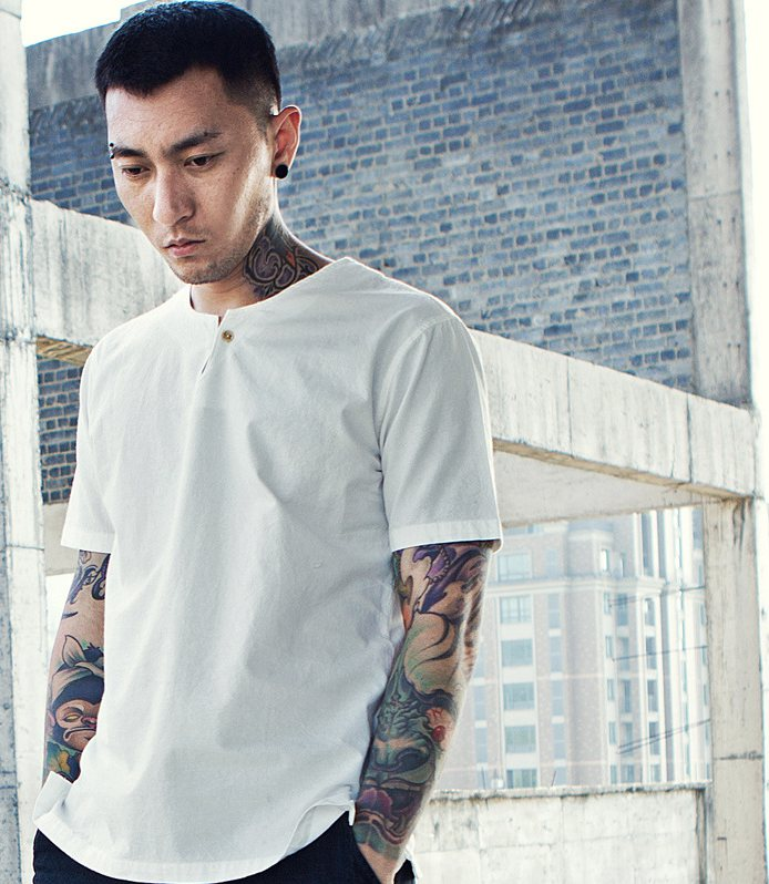 Cotton Linen Shirts Men Short Sleeves Pullover Casual Shirts ...