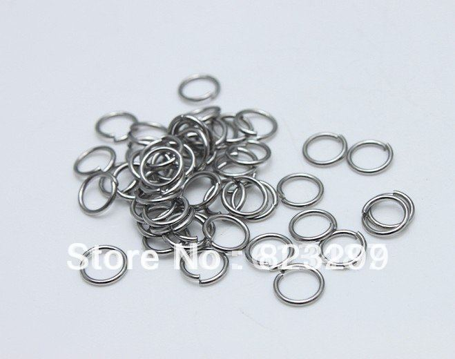 Jewelry & Accessories 1*5mm Lot Of 1000pcs Strong 316l Stainless Steel Jump Ring Suit For Diy Necklace