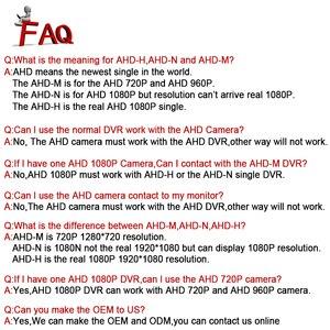 Image 5 - Smar HD 720P 1080P kamera AHD 2000TVL AHDM kamera 1MP/2.0MP kryty kopułkowa kamera bezpieczeństwa filtr podczerwieni z tworzywa sztucznego CCTV strona główna