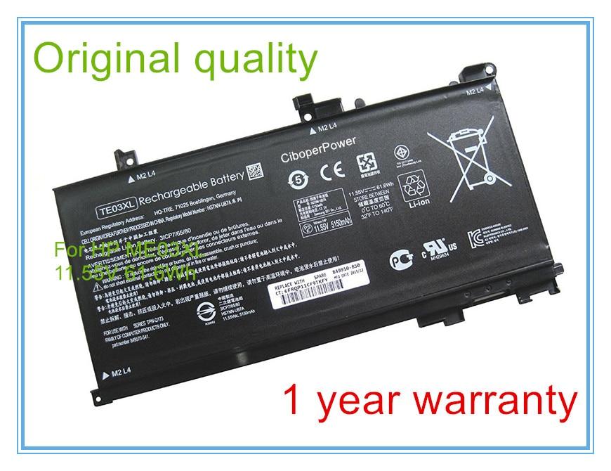 Original quality laptop batteries for 849910-850 TPN-Q173 Pavilion 15 UHD TE03XLOriginal quality laptop batteries for 849910-850 TPN-Q173 Pavilion 15 UHD TE03XL