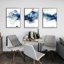 3Pcs/Lot Sunsets Mountain Landscape Posters and Prints Canvas Painting Panorama Scandinavian Wall Art Picture for Living Room