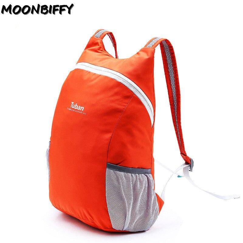 TUBAN Leichte Nylon Faltbare Rucksack Wasserdichte Rucksack Klapp Tasche Tragbare Pack für Frauen Männer Reise
