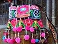 Hot venda Handmade bordado bolsa Mulheres saco Do Mensageiro Do Ombro Pompom Étnica mulheres borla Pequenos sacos de presente de Natal