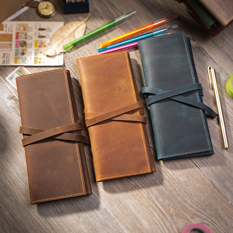 Genuine leather pencil case Pencil holder stationary for school students large Pen case chancery Office Pencil Bag free printing