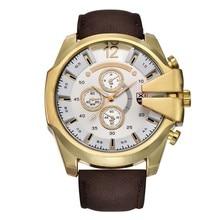 XINEW Hot Sale Men s Clock Analog Steel Case Quartz Watch Big Dial PU Leather Wrist