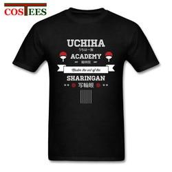 W stylu Vintage wysokiej Streetwear Retro koszulki, dzięki czemu mężczyźni Naruto koszule z Uchiha akademii męskie stworzyć swój własny odzież tanie topy Tee 3