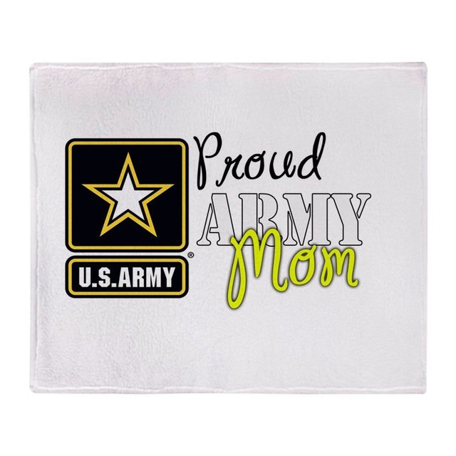 Proud Army Mom Soft Fleece Throw Blanket Soft Flannel Blanket to on for the sofa/Bed/Car Portable Plaids