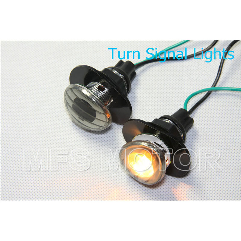 motorcycle parts Smoke Flush Mount LED Turn Signals Light For Kawasaki ZZR600 ZZR 600 2005 2006
