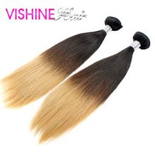 On Sale 2Pcs 613 Ombre Brazilian Virgin Hair Straight Best Human Hair Weave Ombre Hair Extension Beautiful Hair On Head