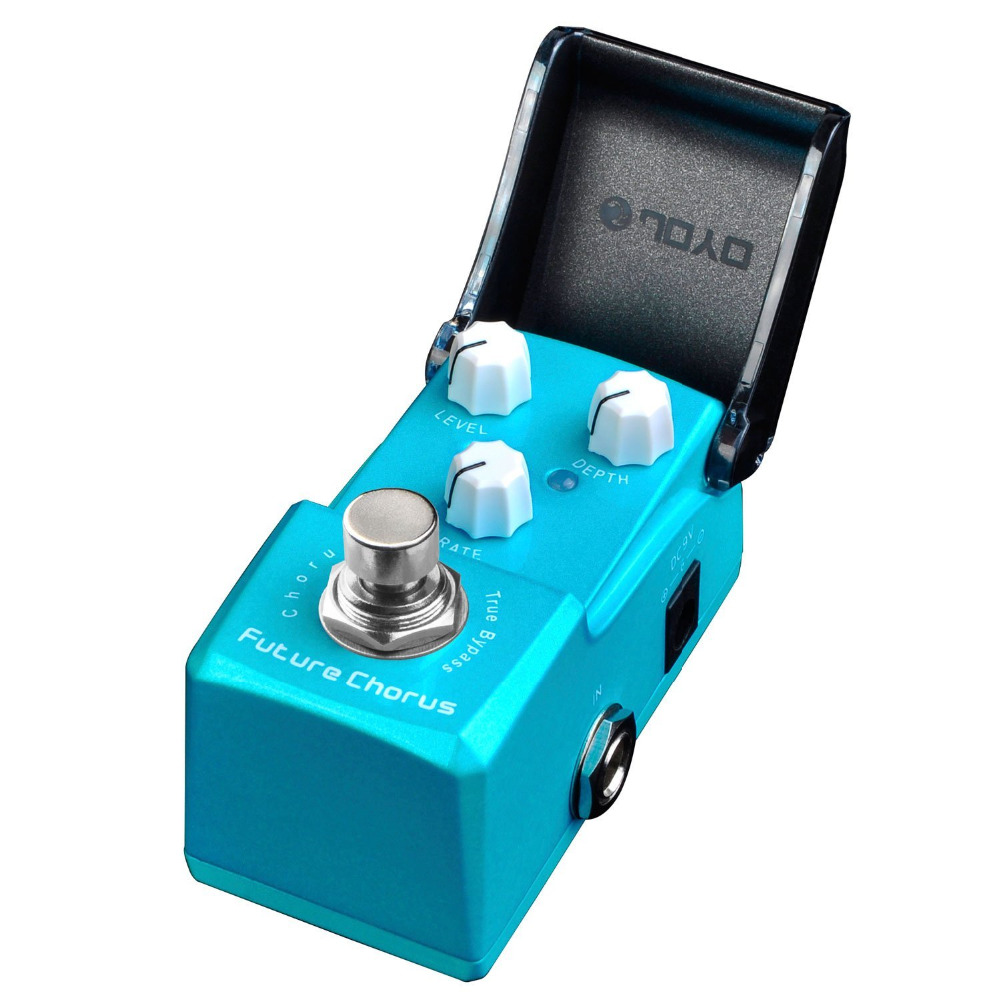 JOYO JF-316 Future Chorus Mini Electric Guitar Effect Pedal with Knob Guard True Bypass joyo jf 317 space verb digital reverb mini electric guitar effect pedal with knob guard true bypass