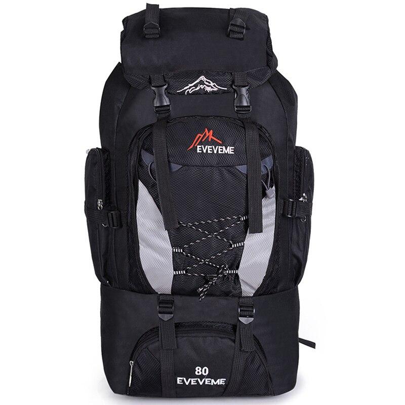 Prix pour 80L En Plein Air Grande Capacité Alpinisme Sac En Nylon Hommes de Paquet Randonnée de Camping Sacs À Dos Femmes Sacs de Voyage