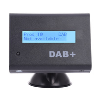 Universal 12V Car Digital Radio DAB+ Audio Receiver Kit With Car Charger Remote Control Antenna