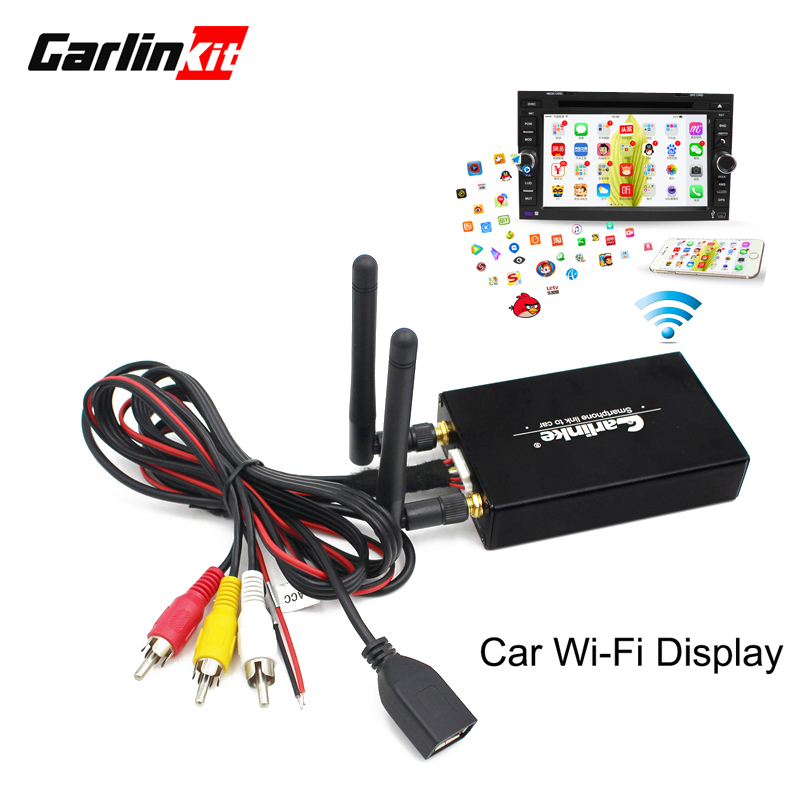 Carlinke Bil WiFi Display IOS AirPlay Spegel Länk för bil Hem Video Audio Miracast DLNA Airplay Skärm Spegling 5.8G
