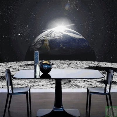 The Moon On The Earth Shock Visual Large Murals 3 D Creative Cosmic